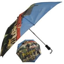 großer zwei faltbarer faltbarer kompakter Regenschirm
