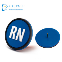 Wholesale china cheap custom 3d logo silicone patches reusable pvc rubber name badge with your own design