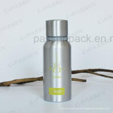 Garrafa de alumínio da vodca 350ml com uma impressão da tela da cor