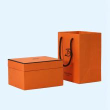 Orange color custom coffee mug boxes