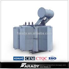 Transformateur triphasé Transformateur électrique 15kv 630kva immergé à l'huile