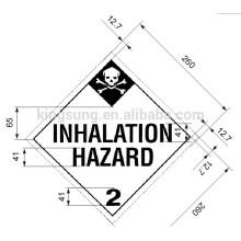 Harzard class sticker label inhalation hazard label
