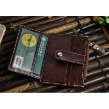 Titular de la tarjeta de clip de dinero de cuero PU de alta calidad al por mayor (HJ8104)