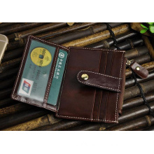 Wholesale Top Quality PU Leather Money Clip Card Holder (HJ8104)