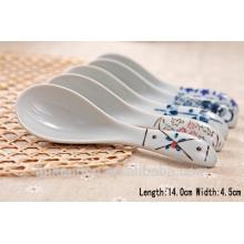 SP1532 Haonai white ceramic dpoons, ceramic measuring spoon, ceramic spoon with hole