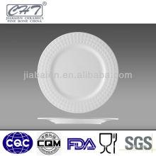 Elegant high quality custom white dinner plate with logo