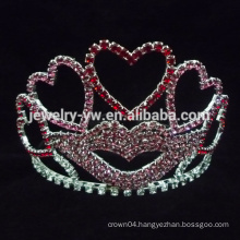 Heart Shaped Crystal Pageant Crowns for kids