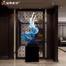 Modern home decoration and ornament electroplated resin large sculpture for indoor decor