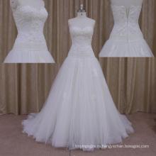 Очаровательная Стиль Атласная Простые Свадебные Платья