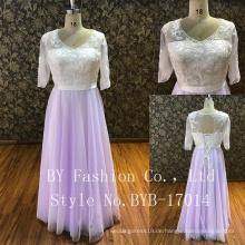Der Rücken kann die Band drei Viertel Ärmel p passen, um Blumenmädchen Kleid Brautjungfer Kleid Partei dres passen