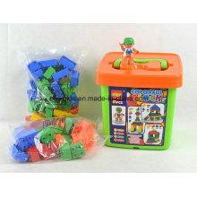 81PCS ABS Amusement Park Building Blocks Bucket Puzzle