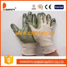 Beige Nylon with Green Nitrile Glove Dnn510