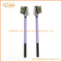 Purple Eyebrow Brush Comb With Plastic Handle