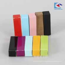 boîte d'emballage pliable bon marché pour le brillant à lèvres avec votre propre logo