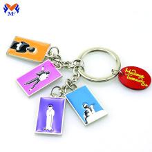 Wholesale custom metal enamel keychains key ring