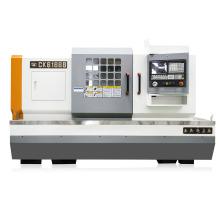 Máquina de torno CNC horizontal para usinagem de metal de base plana