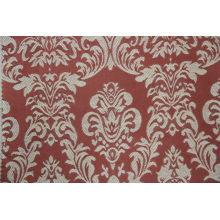 tecido jacquard de design padrão de cor vermelha clássico usado para capa de sofá para o mercado americano