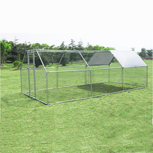 Gibbon Metal DIY Walk-in Chicken Coop or Chicken Run with Purple Waterproof Cover, Outdoor Backyard Farm Poultry Cage