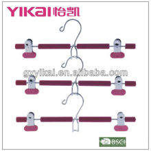 eva foam coated metal hanger with metal cilps and a space saving hook made in Gunagxi factory