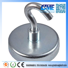 Strong Force D32mm 34 Kg Pull Clamping Hook Magnet