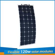 2016 Neues Design Sunpower Flexible Solarpanel 120 Watt