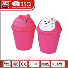 HaiXing most practical plastic bin with cat pattern 6L