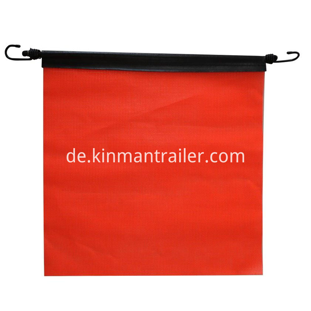 red oversize load flags