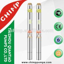 Especificación de chimpa de la bomba de agua profunda sumergible eléctrica monofásico bobina de cobre del motor