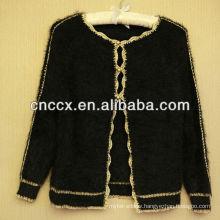 13STC5383 golden edged ladies cardigan sweater