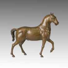 Tier Bronze Skulptur Klassische Pferd Messing Statue Tpal-124