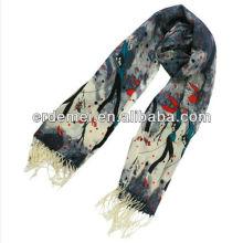 Новый принтский зимний флисовой шарф