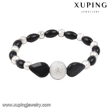 51522 Fashion Simple Bead Jewelry Bangle in Rhodium-Plated