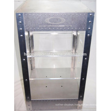Countertop 2-Tier Acrylic Shelving Metal Frame Electric Lighting Locking Sunglass Display Case For Sale