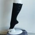 Elegant Black Bowknot Lace Girls' Fashion Knee-highs Socks