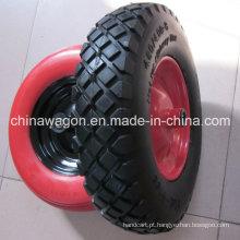 """16 """"Roda de espuma de roda plana plana PU para carrinho de mão"""