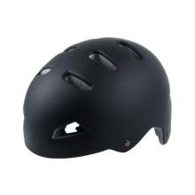 In Mold Skate Board Bmx Helmets Matt Black