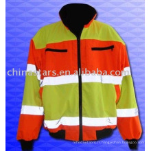Revêtement de sécurité réfléchissant en hiver à haute visibilité EN471