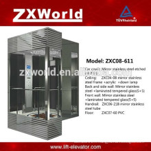 ZXC08-611 Full Glass Sightseeing Passenger Elevator