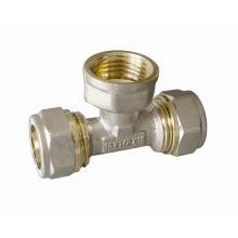 Ktm Rohrverschraubungen von T-Stück für Pert-Al-Pert Rohr, Pex-Al-Pex Rohr, Aluminium Kunststoffrohr, Laser HDPE Rohr, Überlappungsrohr für heißes Wasser und kaltes Wasser