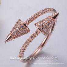 Anel de bronze antigo semi anel de montagem para o noivado