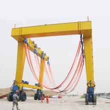 Ruber-Reifen-Portalkran für Schiff 400t