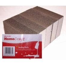 100*70*25mm White Foam Abrasive Sanding Sponge for restaurants