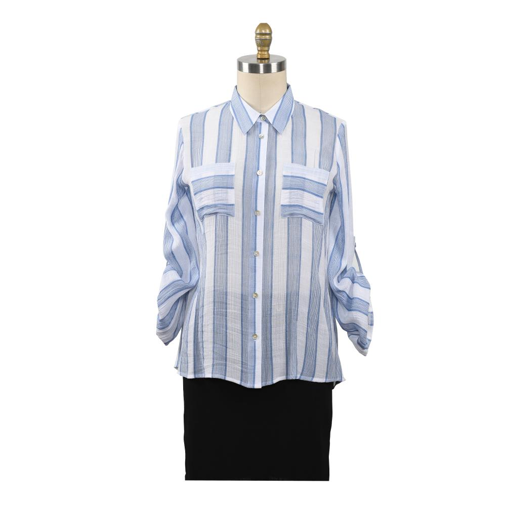 Office Blouse Female Work Women Button Up Shirt
