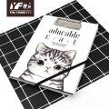 Пользовательский милый мультяшный кот в стиле A5 блокнот с буфером обмена
