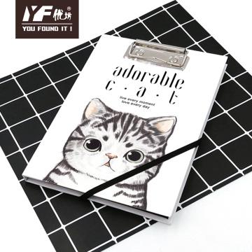 Cahier de presse-papiers A5 personnalisé de style chat de bande dessinée