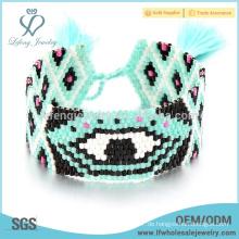 Günstige bunte Armbänder für Frauen, Samen Perle Wrap Armband Schmuck
