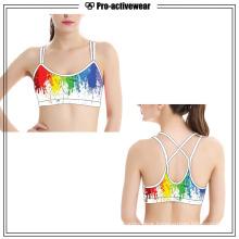 OEM Polyester/Nylon Custom Seamless Women Sports Bra