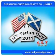 New York Tartan Day American Flag Badge