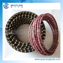 China Herstellung Diamond Drahtseil für Steinbruch Granit