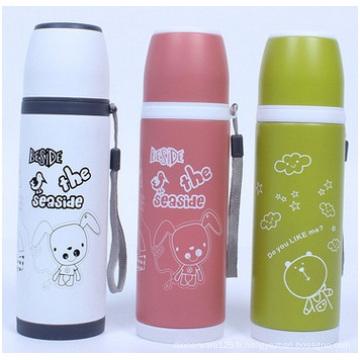 Belle bouteille portative créatrice, tasse d'aspirateur d'acier inoxydable pour des enfants